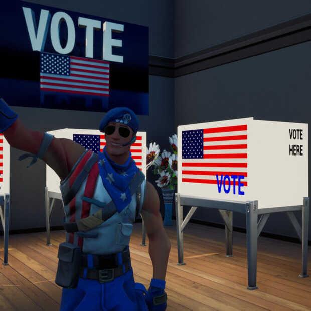 Politieke idealen Biden in het spel Fortnite
