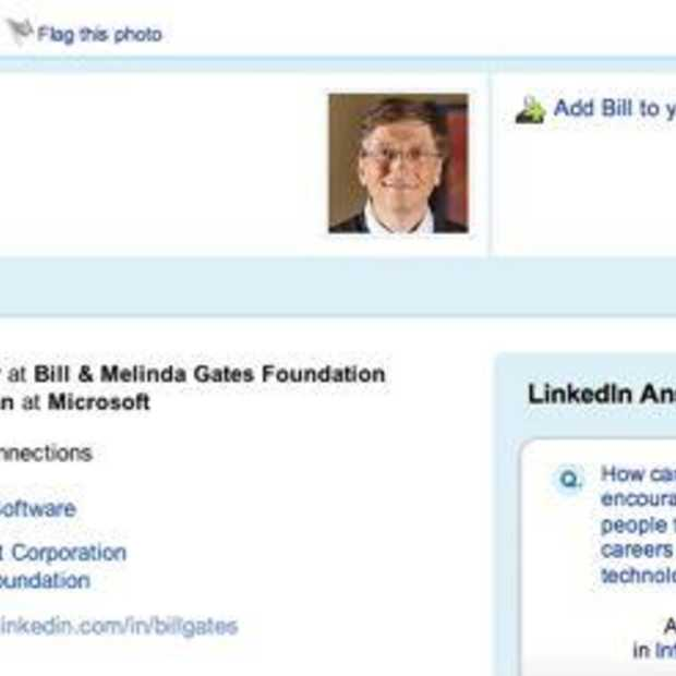 Bill Gates meldt zich op LinkedIn