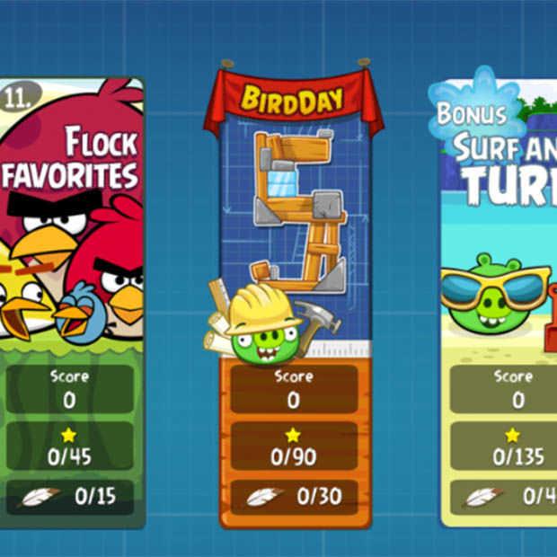Angry Birds bestaat 5 jaar: Al meer dan 600 miljard birds gelanceerd