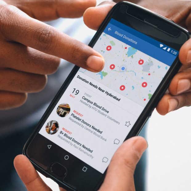Facebook zet campagne op voor bloeddonaties