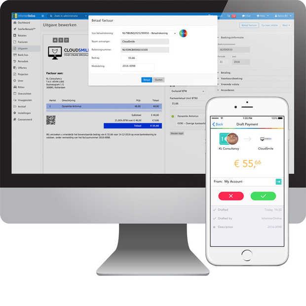 Weer primeur bunq & Informer: direct betalen vanuit je boekhouding