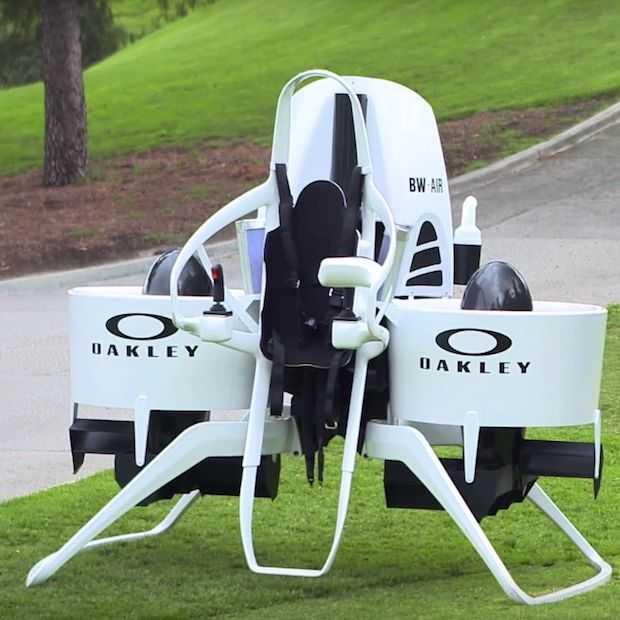 Een jetpack voor op de golfbaan