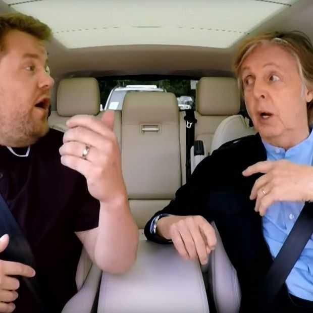 Heel speciaal: Carpool Karaoke met Paul McCartney in Liverpool
