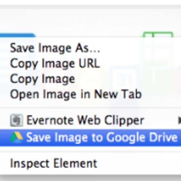 Chrome extensie voor het opslaan van content direct op Google Drive