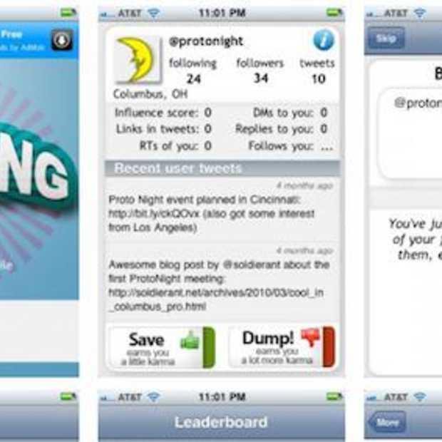 ChumpDump het grote Twitter unfollow spel voor Google Android en iPhone