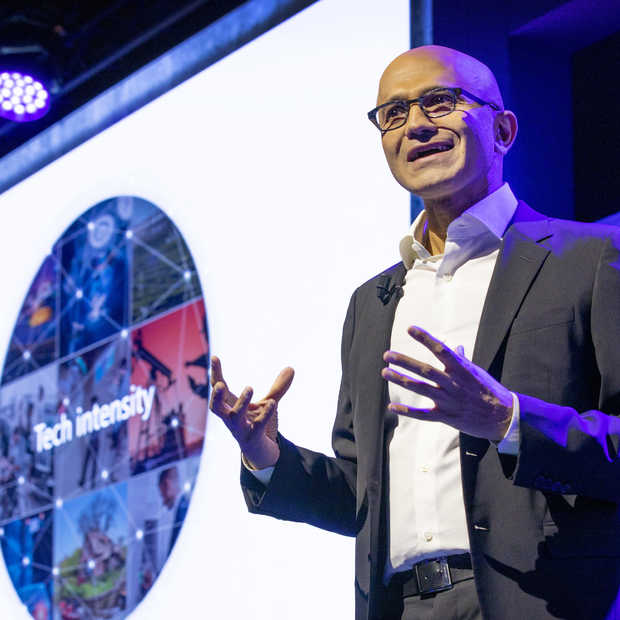 Satya Nadella​ opent nieuw kantoor ​Microsoft Nederland