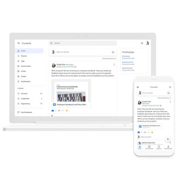 Google Currents vervangt Google+ voor alle G Suite-klanten