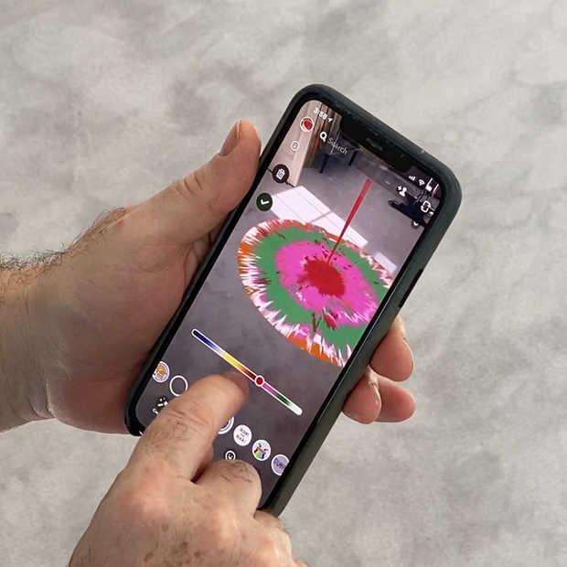 Snap AR-lens in samenwerking met Damien Hirst