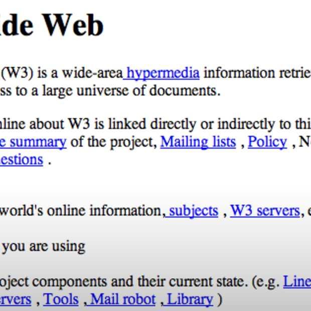 De allereerste website is weer online