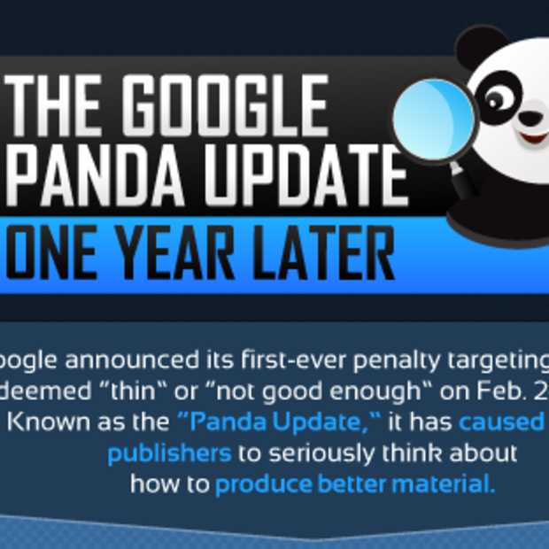 De Google Panda Update, één jaar later [Infographic]