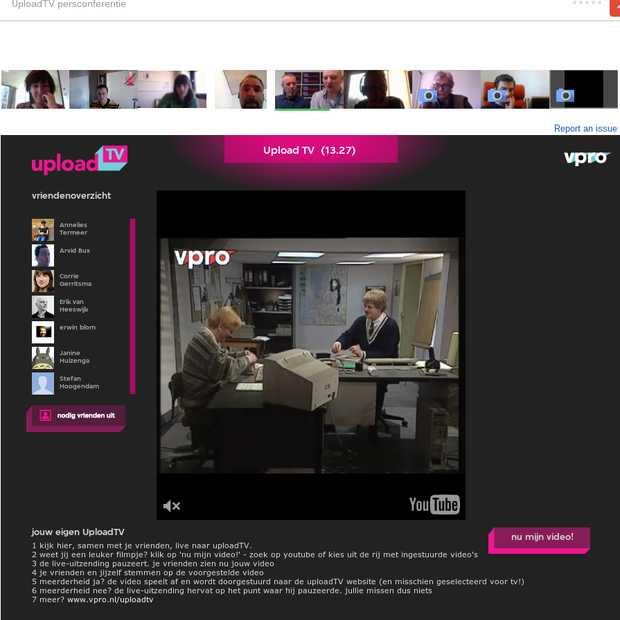 De regie in handen bij @UploadTV via een Google+ Hangout