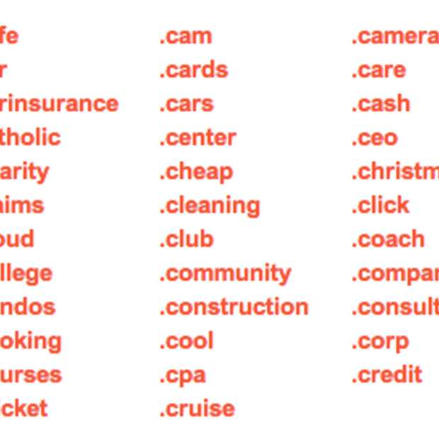 Domeinextensie .com is zo 20e eeuw: 1.930 nieuwe gesponsorde top level domeinen