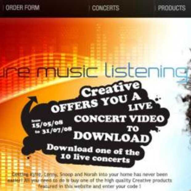 Download een gratis live-concert bij Creative