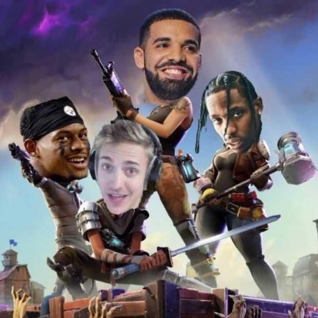 Drake speelt Fortnite met populaire streamer, breekt Twitch-record