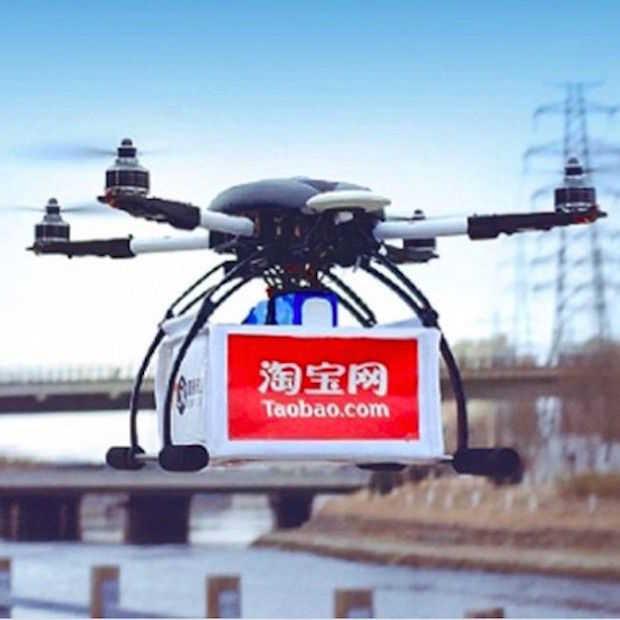 Alibaba test ook bezorgen via drones