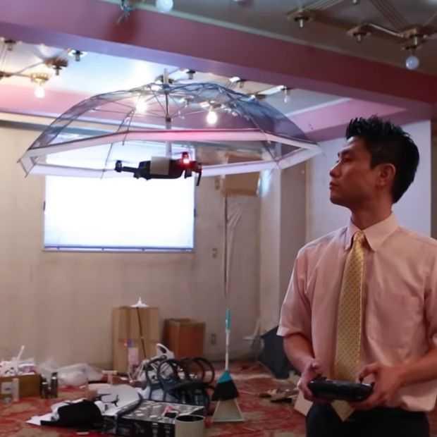 Deze drone-parasol zou briljant zijn zonder het lawaai