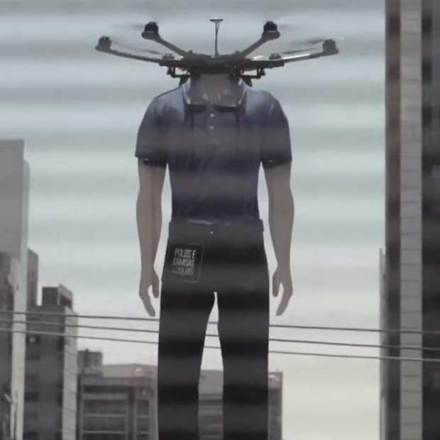Vliegende mannequins, modemerk gebruikt drones
