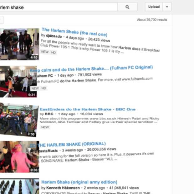 Easter Eggs: YouTube doet de Harlem Shake