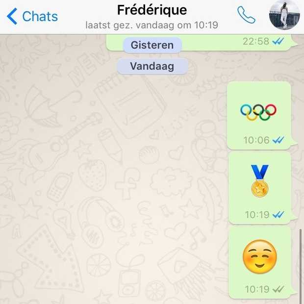 WhatsApp heeft nu een Olympische ringen emoji