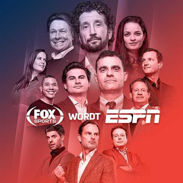 Fox Sports omgedoopt tot ESPN, vanaf 1 januari