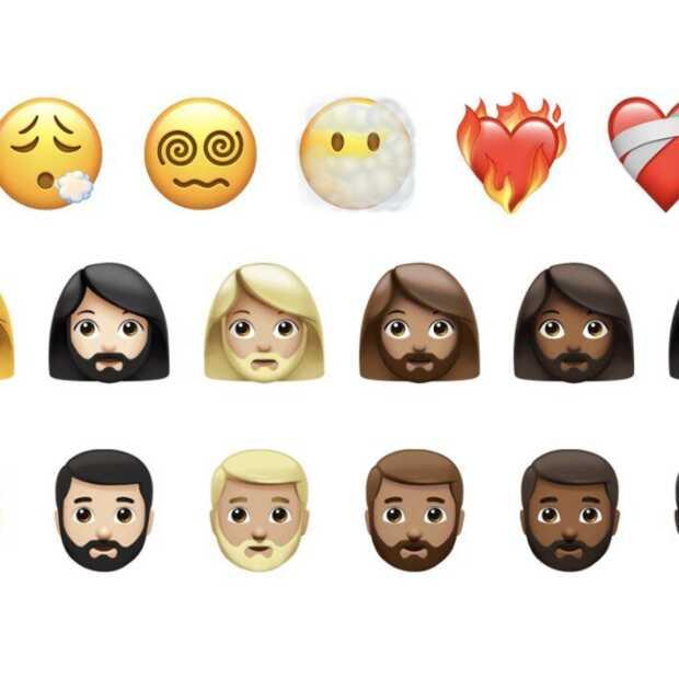 Nieuwe emoji's: vrouwen met een baard en spuit zonder bloed