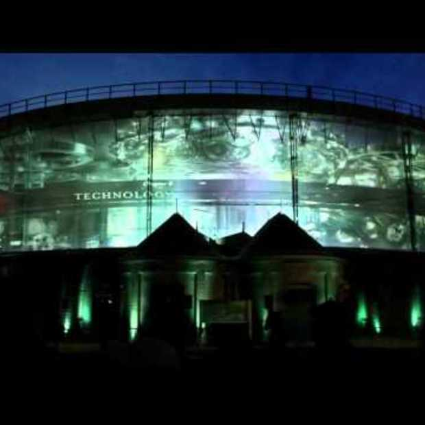 Spectacular 3D projection Westergasfabriek