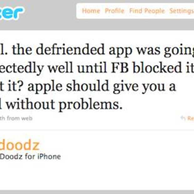 Facebook brengt nu ook Defriended app om zeep