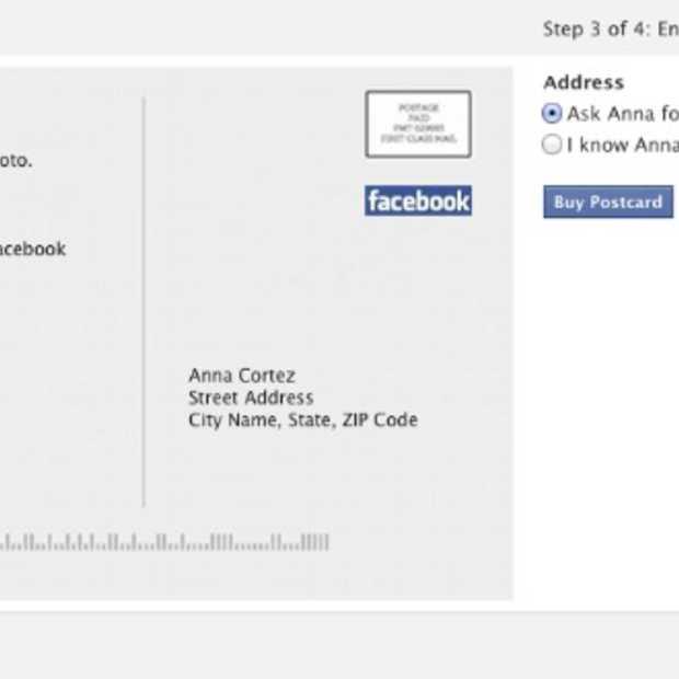 Facebook-foto's: verstuur ze als postkaarten
