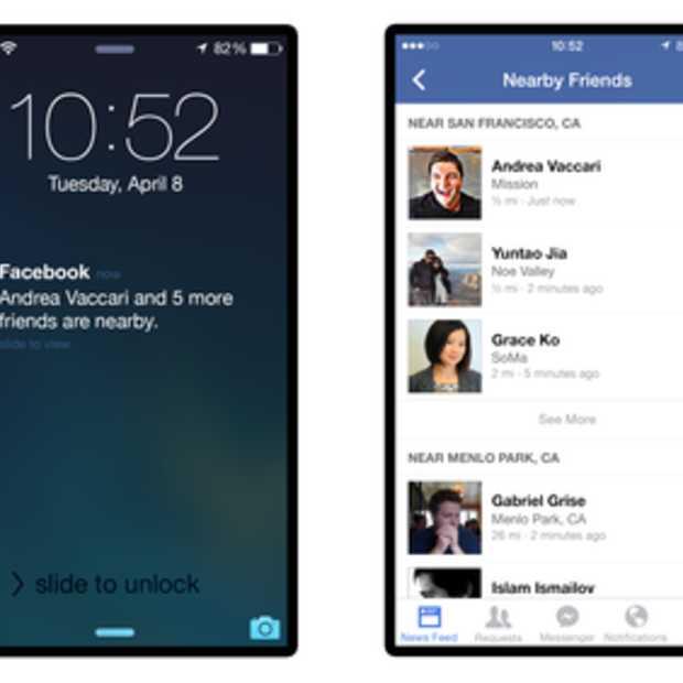 Facebook introduceert Nearby Friends