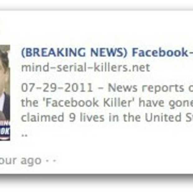 Facebook killer video scam op Facebook