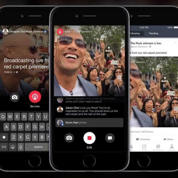 Facebook introduceert Live voor Facebook Mentions