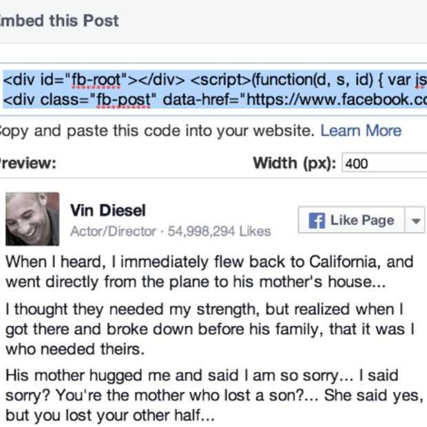 Facebook Posts embedden nu iets flexibeler