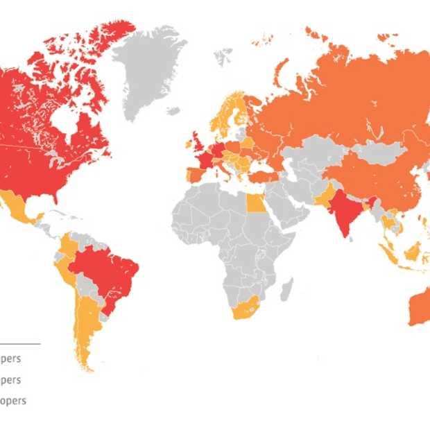 Facebook publiceert kaart met internationale developers