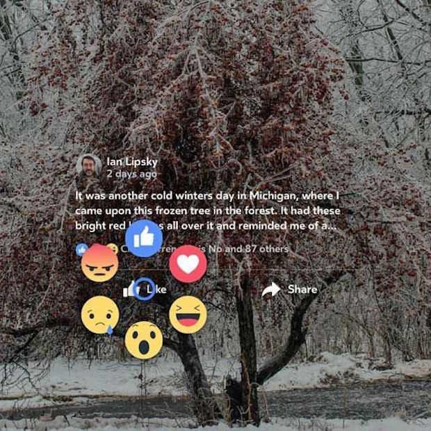 Facebook Reactions in virtual reality met Oculus