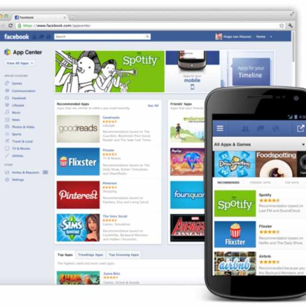 Facebook start met de uitrol van App Center