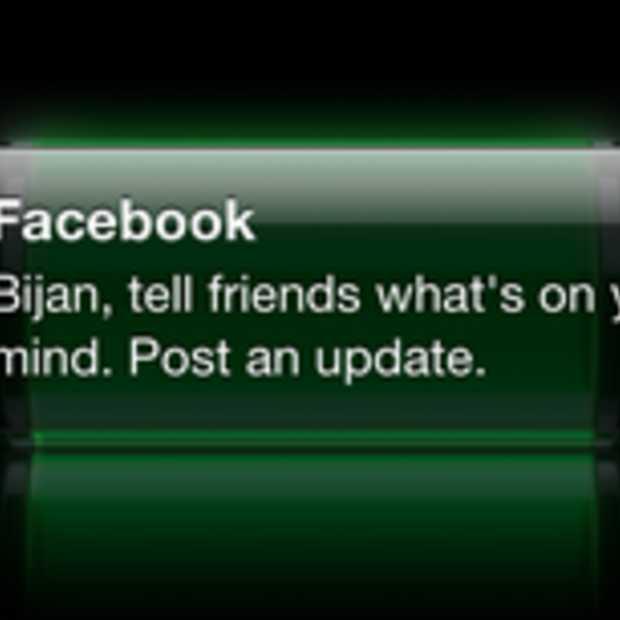 Facebook test iOS notificatie die je 'vraagt' een update te plaatsen