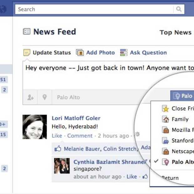 Facebook verbetert vriendenlijsten