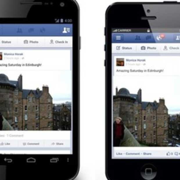 Facebook voegt delen-knop toe in Android- en iOS-apps