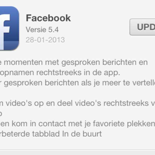 Facebook voegt opnemen en uploaden van video toe aan iOS app