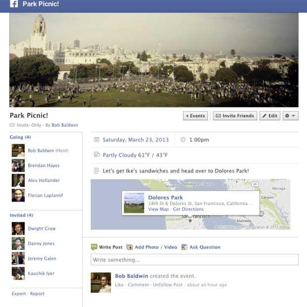 Facebook voegt weervoorspellingen toe aan evenementenpagina's en publieke plaatsen