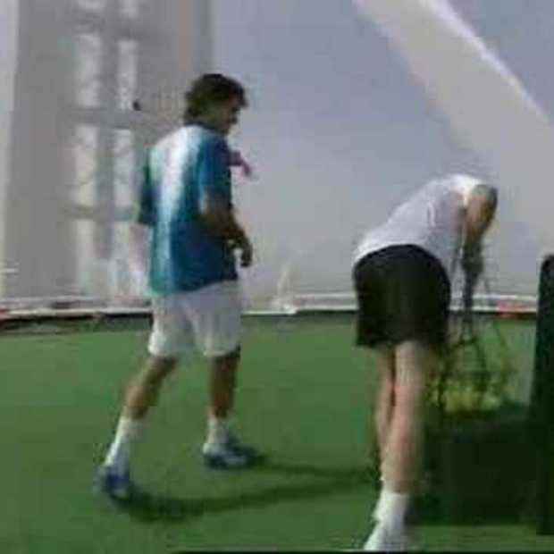 Federer and Agassi In Dubai