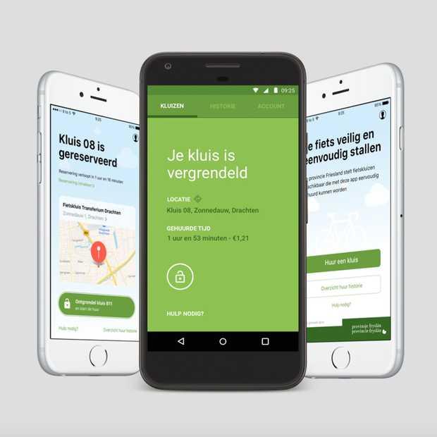 Primeur: in Friesland kun je een fietskluis openen met een app
