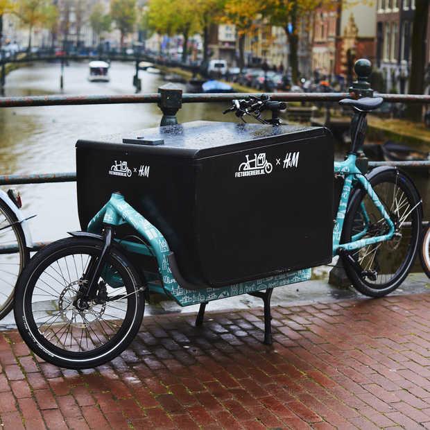 H&M gaat in Nederland online bestellingen ook op de fiets bezorgen