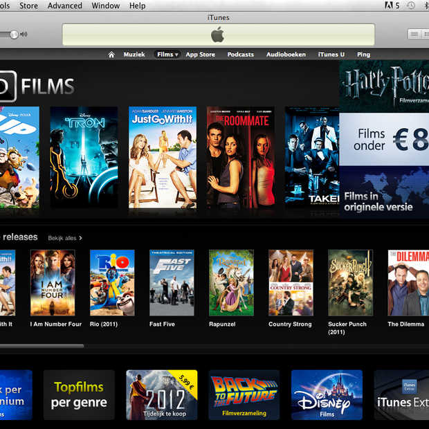 Films huren via iTunes