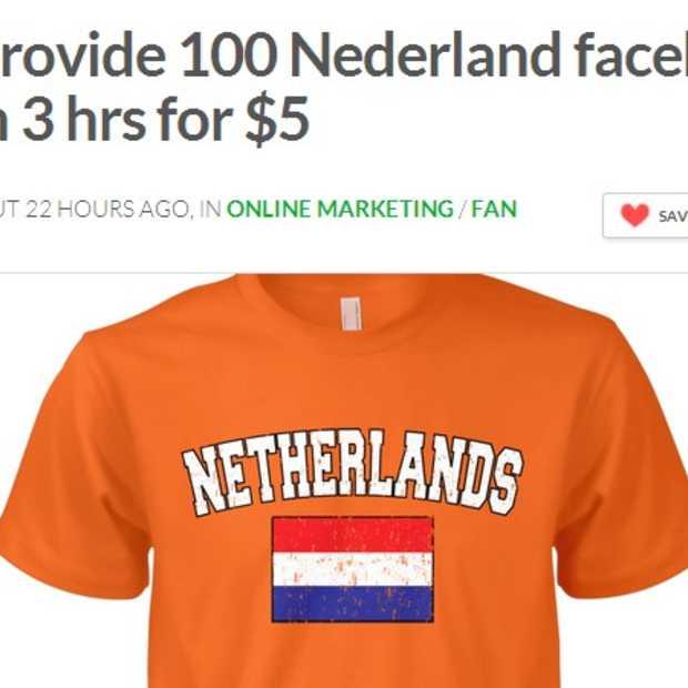 Fiverr: 100 Nederlandse Facebook-likes voor minder dan 3 euro 65