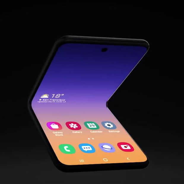 Samsung werkt aan 'flip phone' design voor smartphone