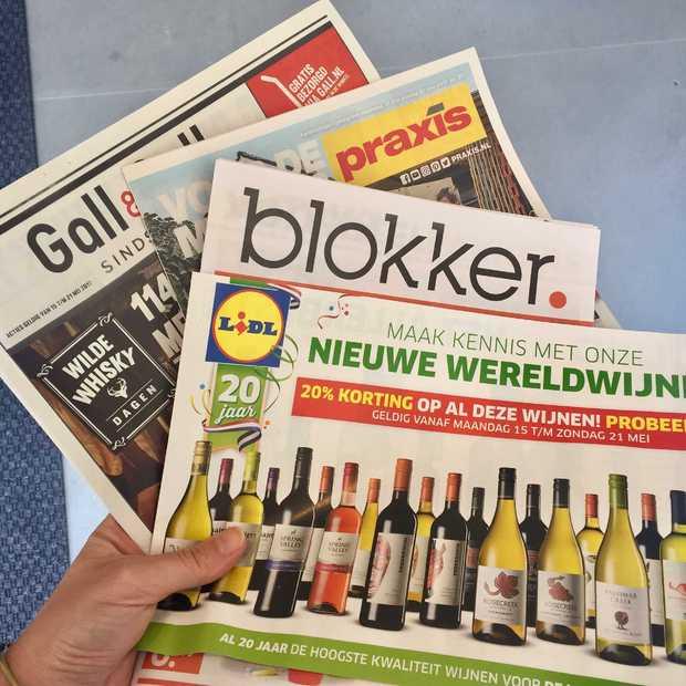 We lezen nog steeds massaal papieren reclamefolders