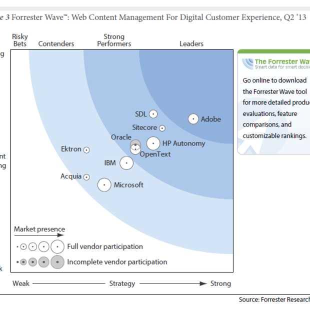 Forrester: 'Adobe leider in Web Content Management voor digitale ervaringen'