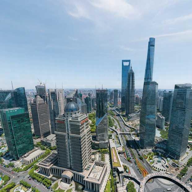Wow: deze foto van Shanghai heeft 195 biljoen pixels!