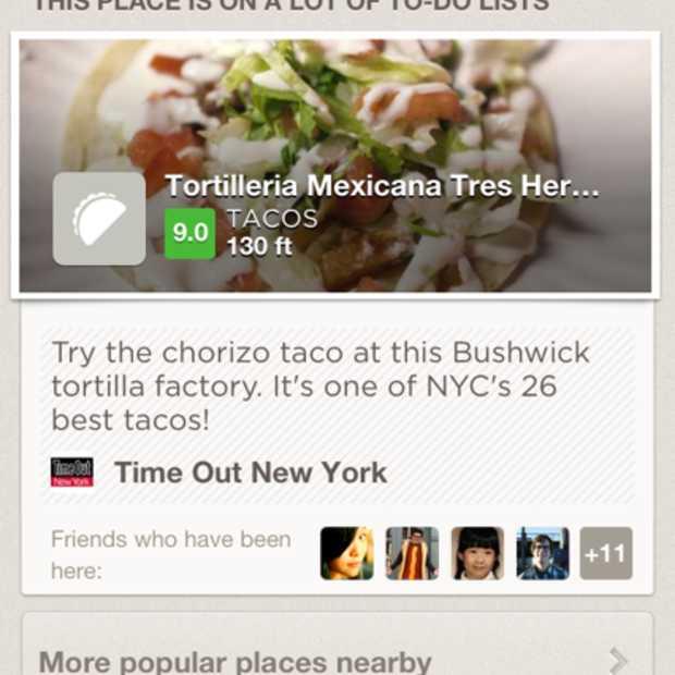 Foursquare biedt nu mogelijkheid om bedrijven te beoordelen